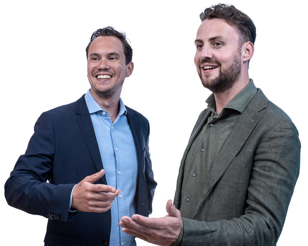 Luca van Loenen en Tim Pieterson